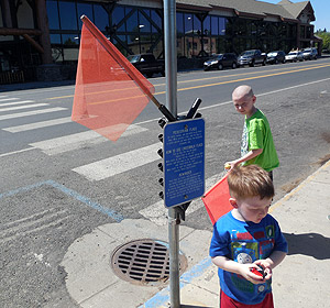 It's even easy for youngsters to exercise caution when crossing the street.